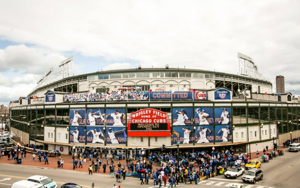 Image of Wrigley Field on Opening Day 2013
